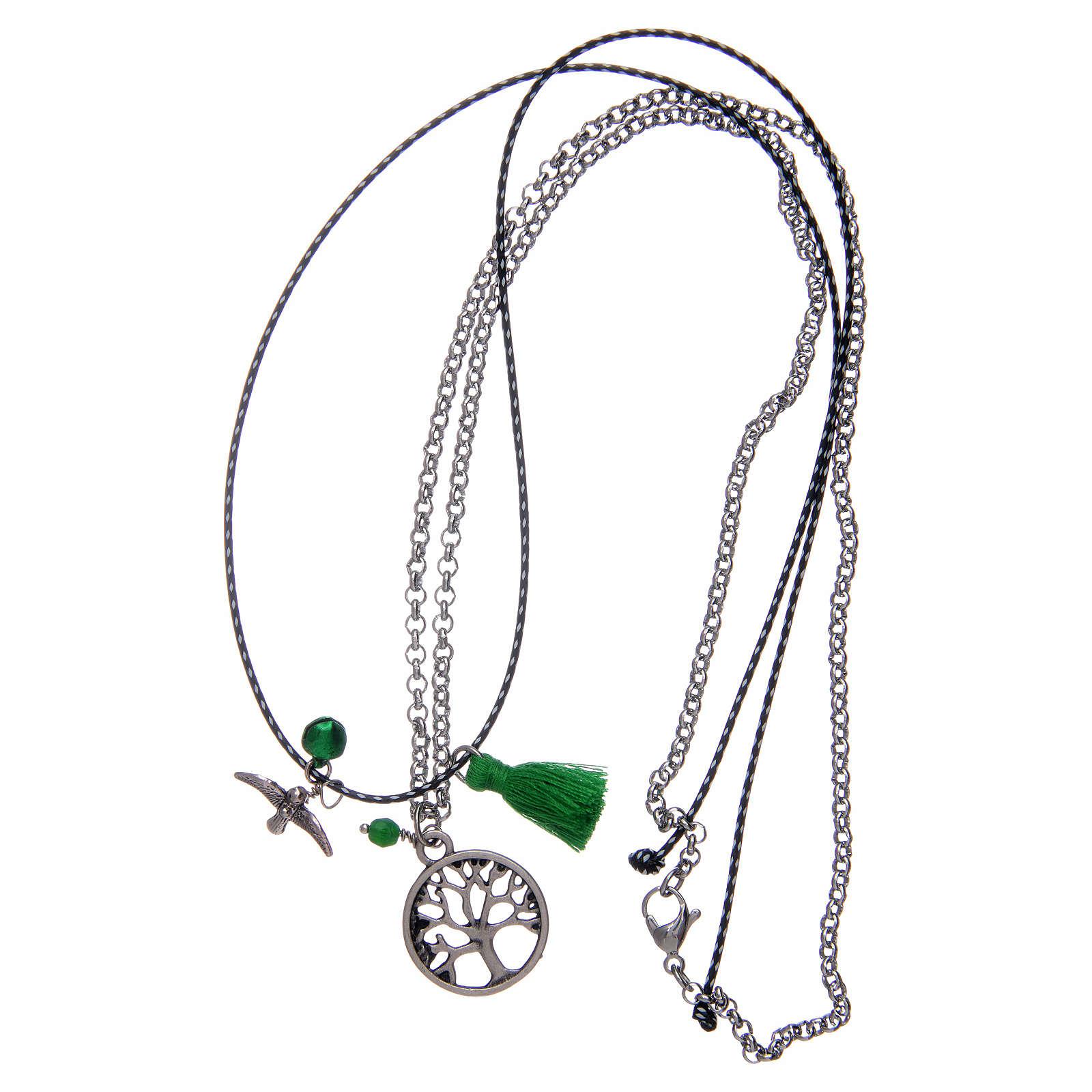 Collana con albero della vita nappina verde 4