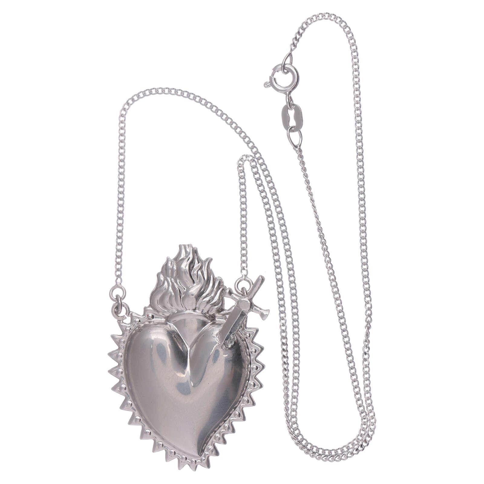 Girocollo argento 925 con cuore votivo con spada 4