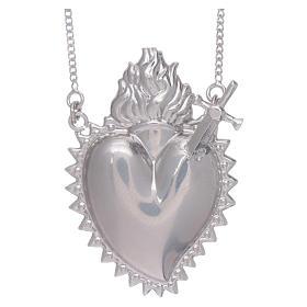 Girocollo argento 925 con cuore votivo con spada s1
