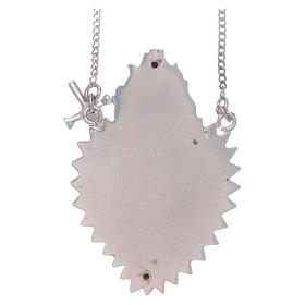 Girocollo argento 925 con cuore votivo con spada s2