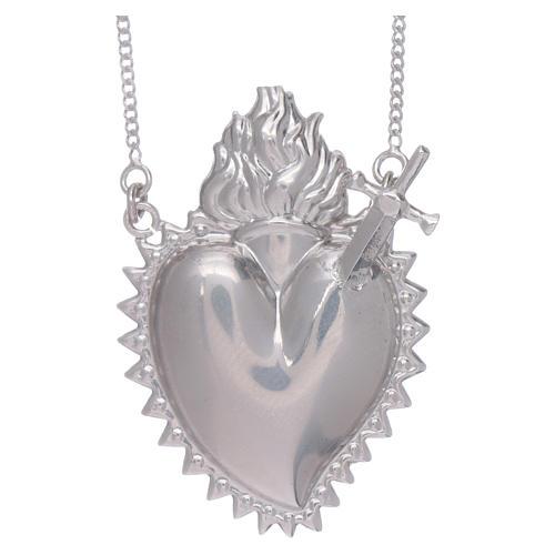 Girocollo argento 925 con cuore votivo con spada 1