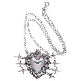 Girocollo con cuore votivo e sette spade argento 925 s3