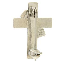 Deacon cross lapel pin in 925 silver s2