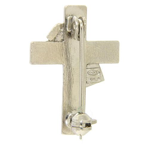 Deacon cross lapel pin in 925 silver 2
