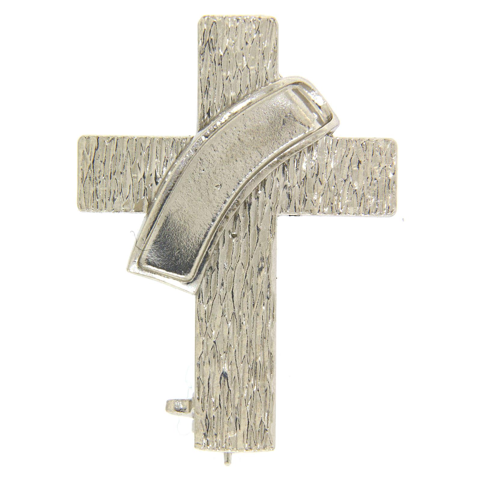 Broche cruz diaconal plata 925 4