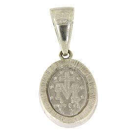 Pingente Medalha Milagrosa prata 925 zircões pretos