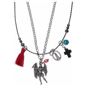 Pingentes, Cruzes, Broches, Correntes: Colar duplo São Miguel Arcanjo e Nossa Senhora do Loreto