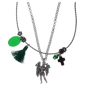 Double necklace Saint Archangel Micheal and Our Lady of Miracles s1