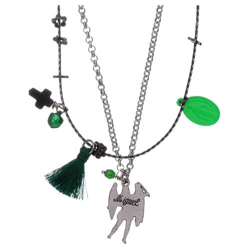 Double necklace Saint Archangel Micheal and Our Lady of Miracles 2