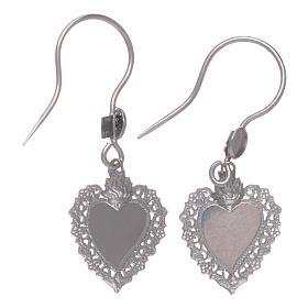 Earrings in 925 sterling silver with votive heart s2