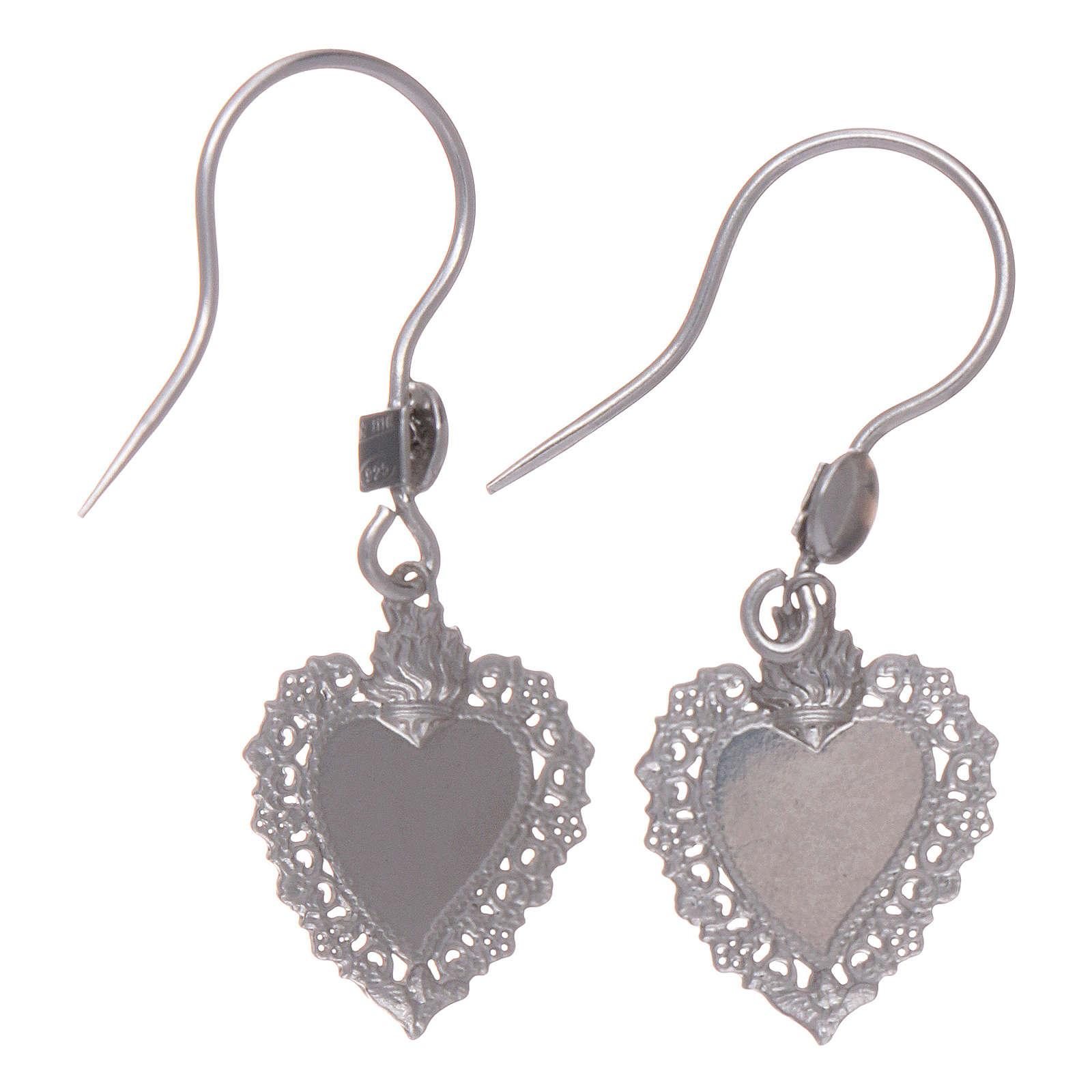 Sterling silver earrings with votive heart 4