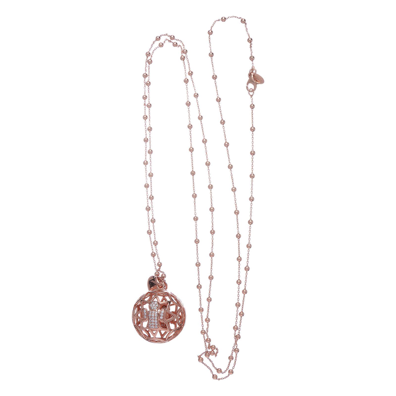 Collana AMEN chiama angeli argento 925 rosè e zirconi 4