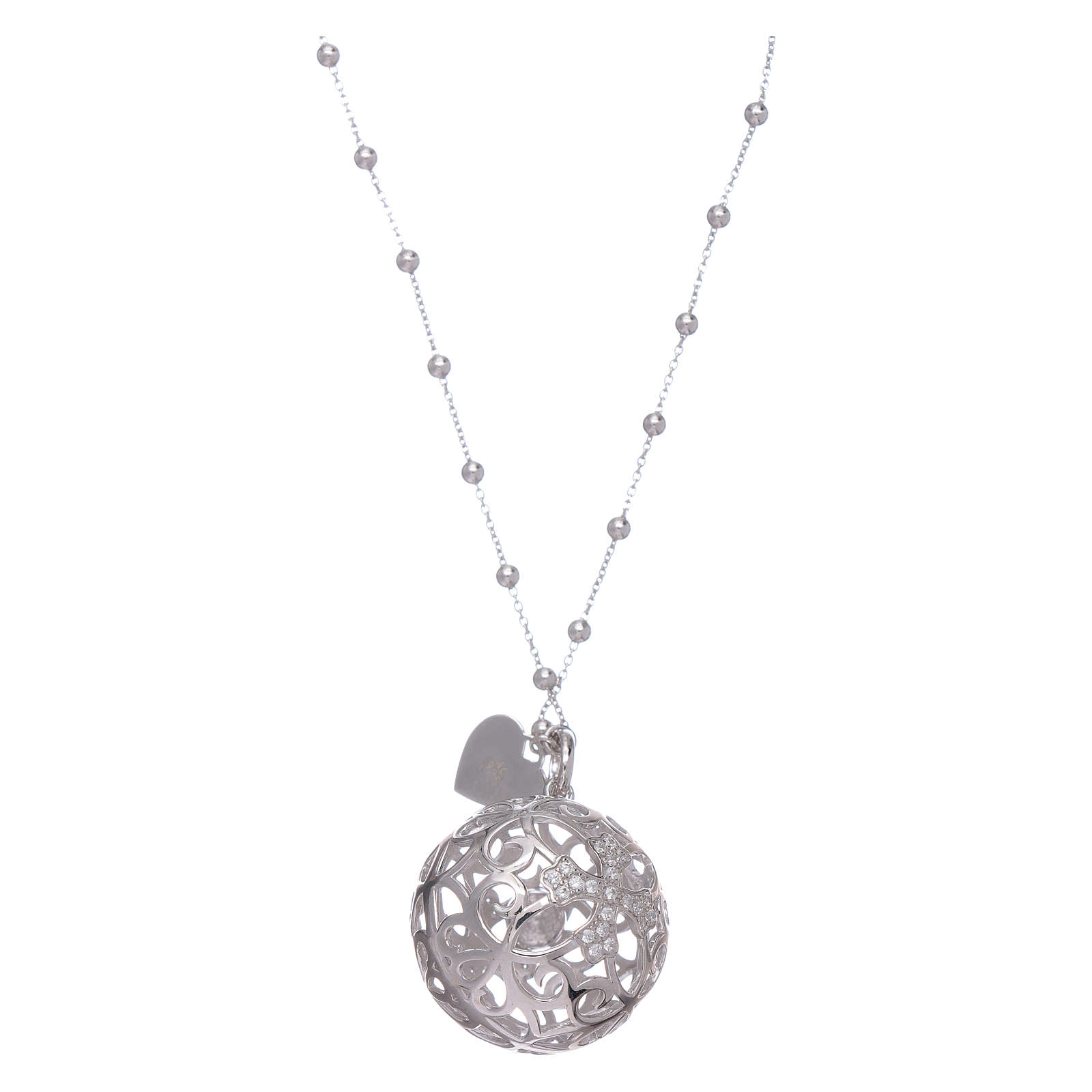 Amen necklace angel caller rosè with cross and zircons in 925 sterling silver 4