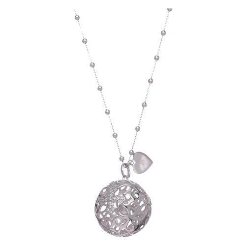 Amen necklace angel caller rosè with cross and zircons in 925 sterling silver 1