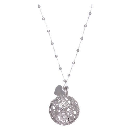 Amen necklace angel caller rosè with cross and zircons in 925 sterling silver 2