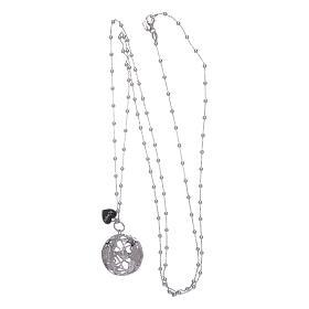Collana AMEN chiama angeli cuore e zirconi argento 925 s3