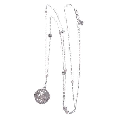 Collana AMEN chiama Angeli argento 925 e perle 3