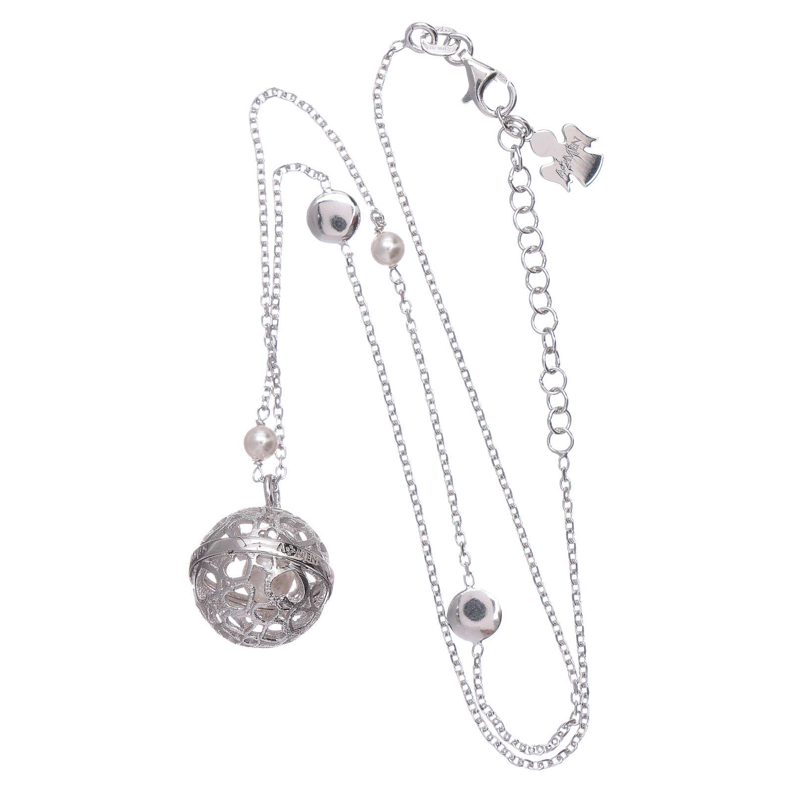 Collana AMEN argento 925 chiama Angeli perle 4