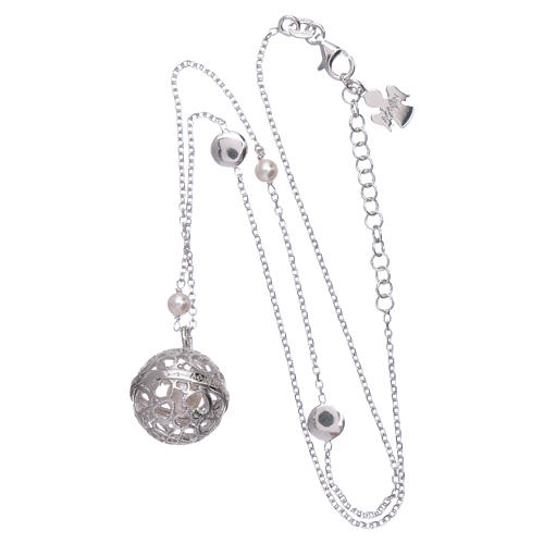 Collana AMEN argento 925 chiama Angeli perle 3