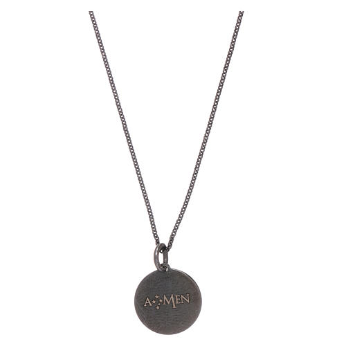 AMEN necklace for men with Our Father prayer in 925 sterling silver 2
