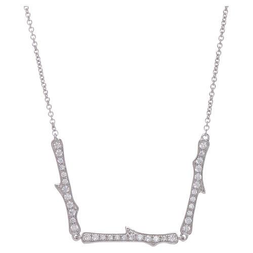 Collar AMEN plata 925 rodiada zircones blancos 1
