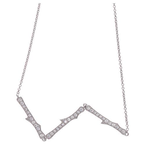 Collar AMEN plata 925 rodiada zircones blancos 2