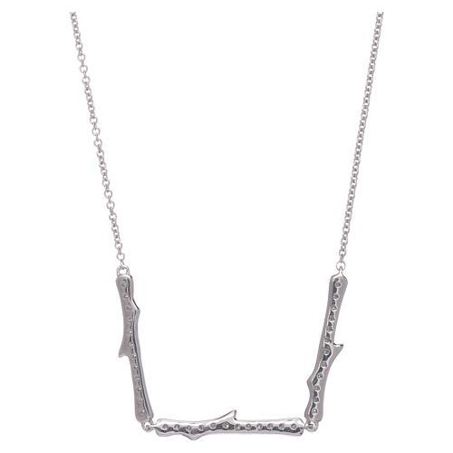 Collar AMEN plata 925 rodiada zircones blancos 3