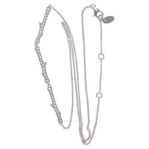 Collar AMEN plata 925 rodiada zircones blancos 4