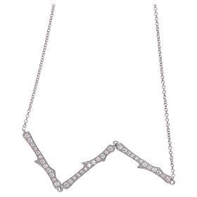 Collana AMEN argento 925 rodio zirconi bianchi s2
