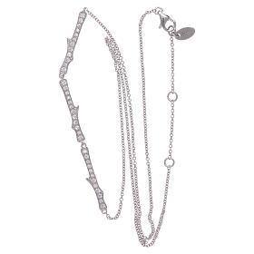 Collana AMEN argento 925 rodio zirconi bianchi s4