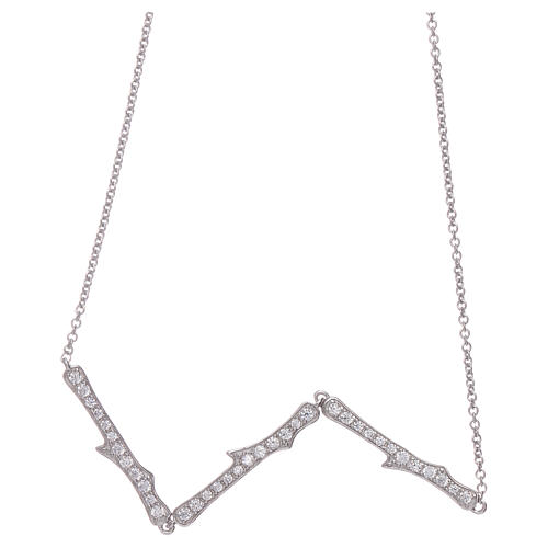 Collana AMEN argento 925 rodio zirconi bianchi 2