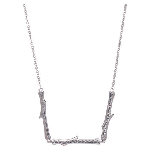 Collana AMEN argento 925 rodio zirconi bianchi 3