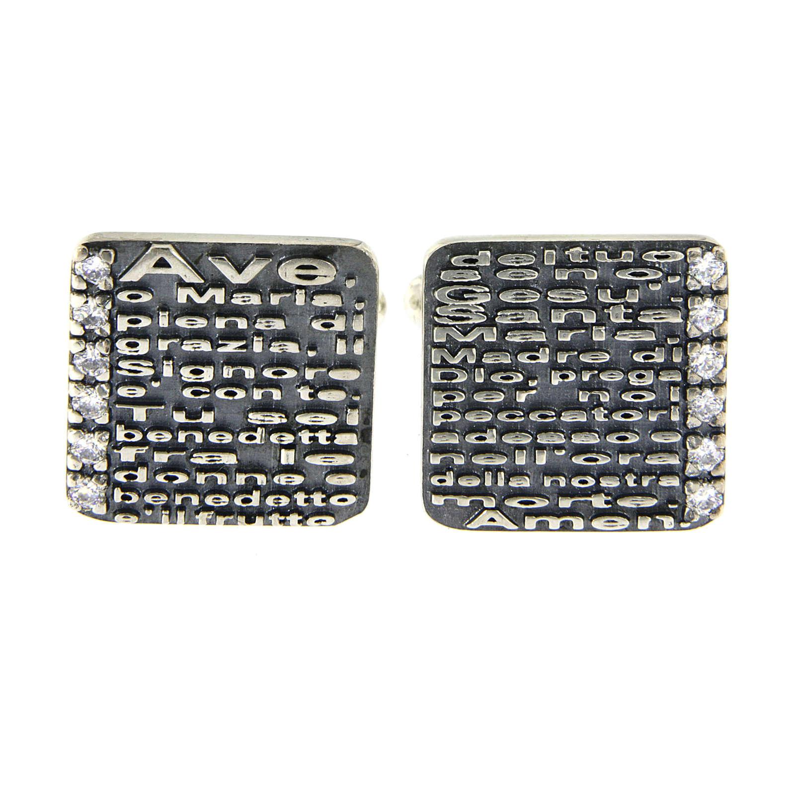 Gemelli Ave Maria AMEN argento 925 e zirconi 4