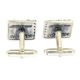Gemelli Ave Maria AMEN argento 925 e zirconi s3
