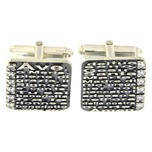 Gemelli Ave Maria AMEN argento 925 e zirconi 1