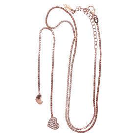 Collier étreintes argent 925 rosé AMEN zircons blancs s3