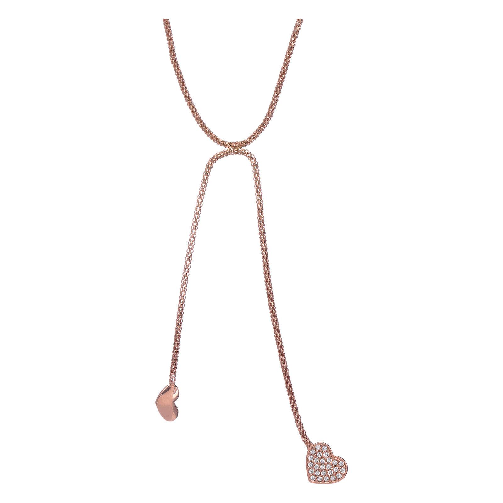Collana abbracci arg 925 rosè AMEN zirconi bianchi 4