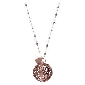 Collar Llamador Ángeles AMEN plata 925 rosada y zircones s2