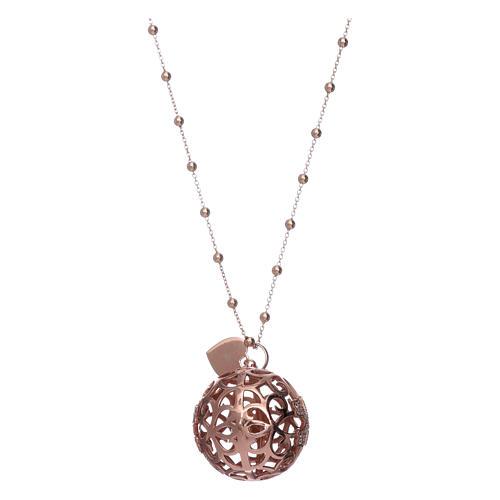 Collar Llamador Ángeles AMEN plata 925 rosada y zircones 2