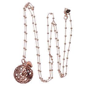 Collier harmony ball AMEN argent 925 rosé et zircons s3