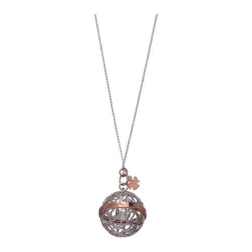 Collier harmony ball AMEN argent 925 et ange 2