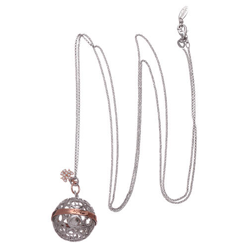 Collier harmony ball AMEN argent 925 et ange 3