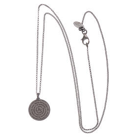 AMEN Hail Mary necklace in 925 sterling silver finished in burnish s3