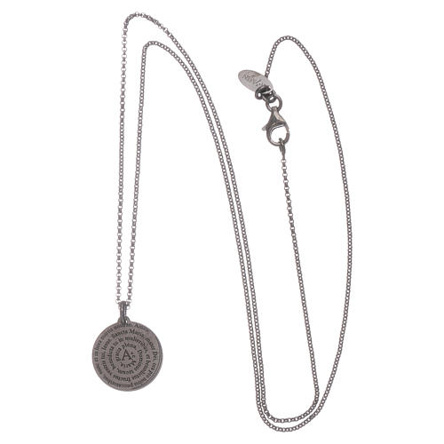 AMEN Hail Mary necklace in 925 sterling silver finished in burnish 3
