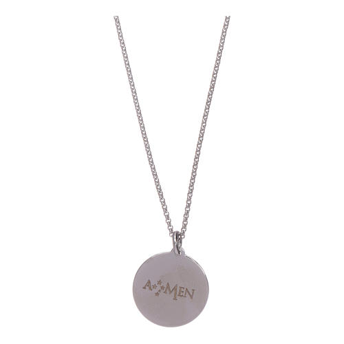 AMEN necklace in 925 sterling silver with Our Father prayer 2