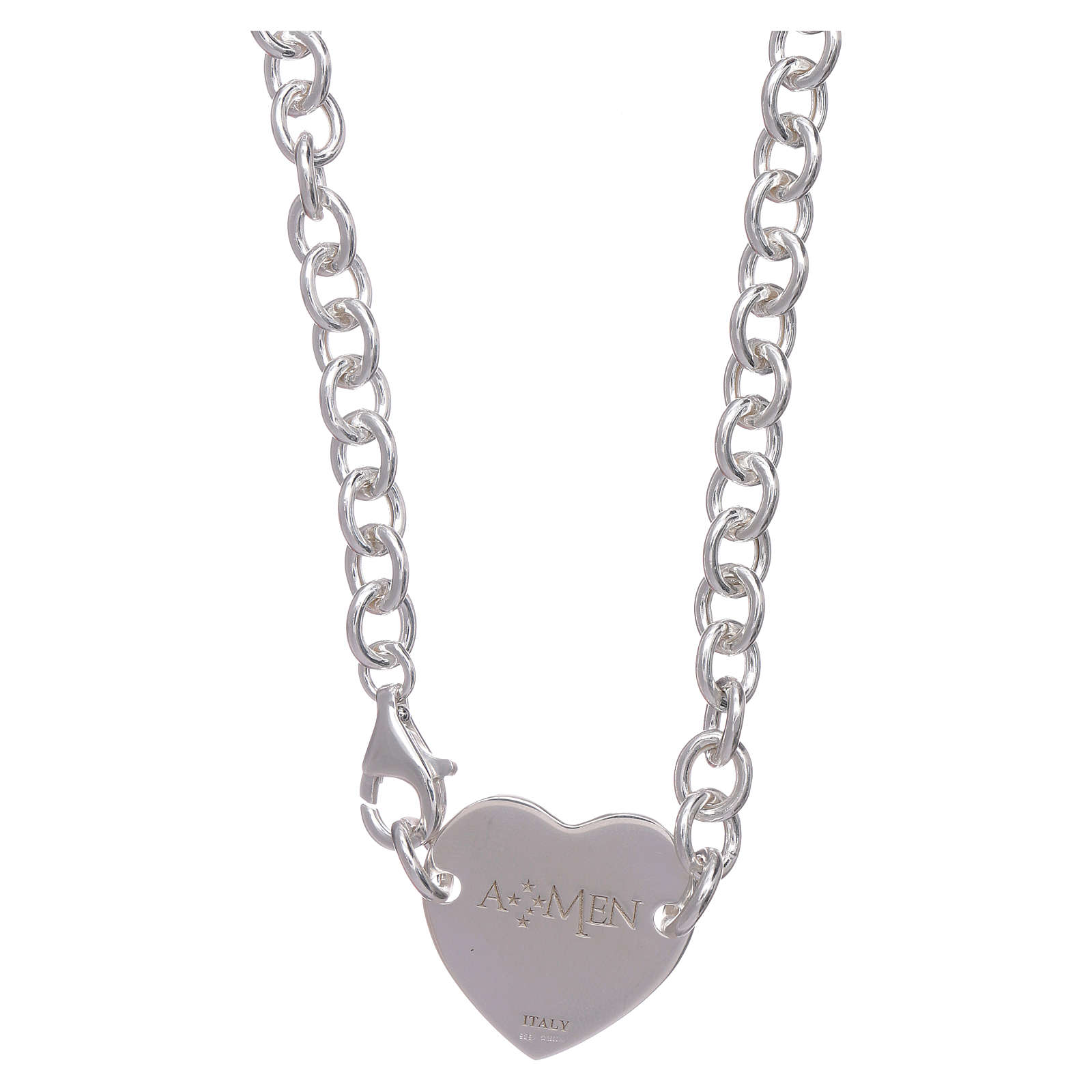 AMEN necklace in 925 sterling silver with heart 4
