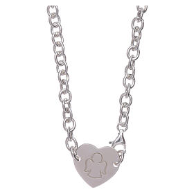 AMEN necklace in 925 sterling silver with heart s1