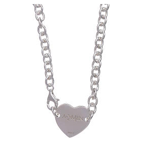 AMEN necklace in 925 sterling silver with heart s2