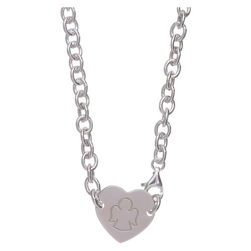 AMEN necklace in 925 sterling silver with heart 1