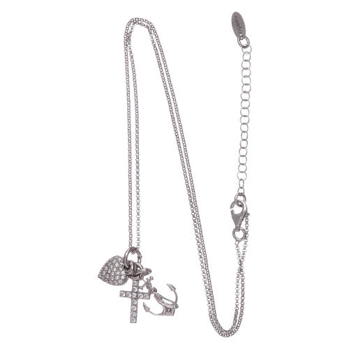 AMEN necklace in 925 sterling silver with three charms Faith, Hope and Compassion 3
